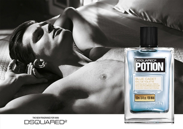 ERIK ZWAGA GEURENGOEROE POTION FOR MAN BLUE CADET DSQUARED2 MODEL