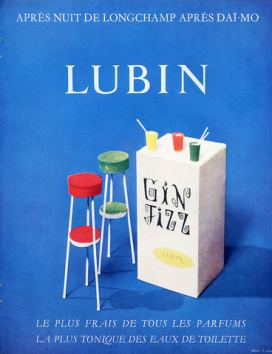 GIN FIZZ LUBIN OLD AD